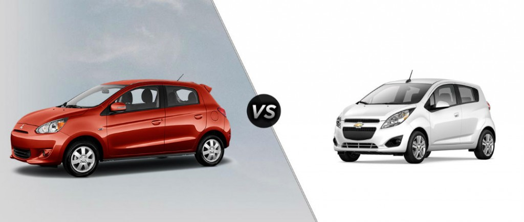 Comparing The 2015 Mitsubishi Mirage Vs. 2015 Chevy Spark