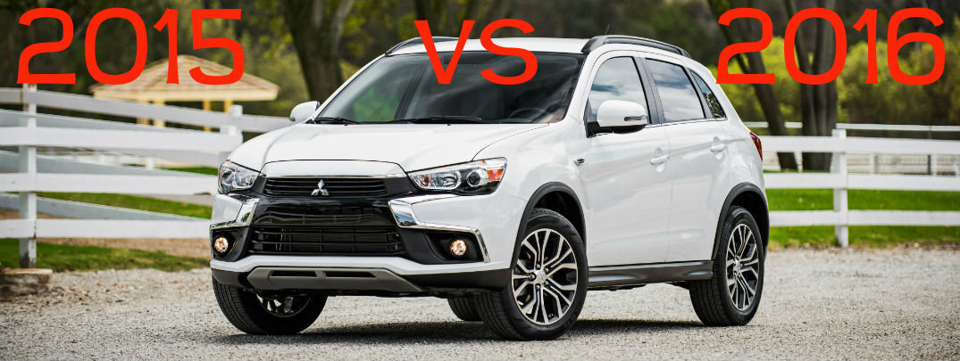 2015 vs 2016 Mitsubishi Outlander Sport Changes