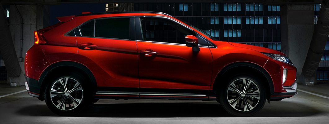 2018 Mitsubishi Eclipse Cross profile red coupe styling