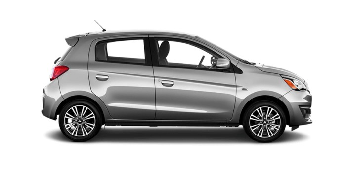2018 Mitsubishi Mirage Mercury Gray Metallic