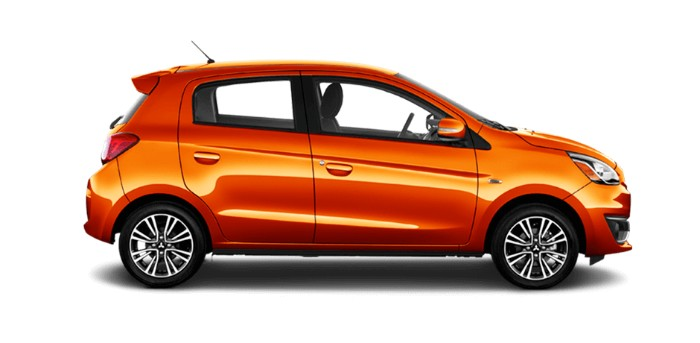 2018 Mitsubishi Mirage Sunrise Orange Metallic