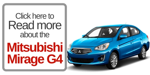 Button that says click here to read more about the mitsubishi mirage g4