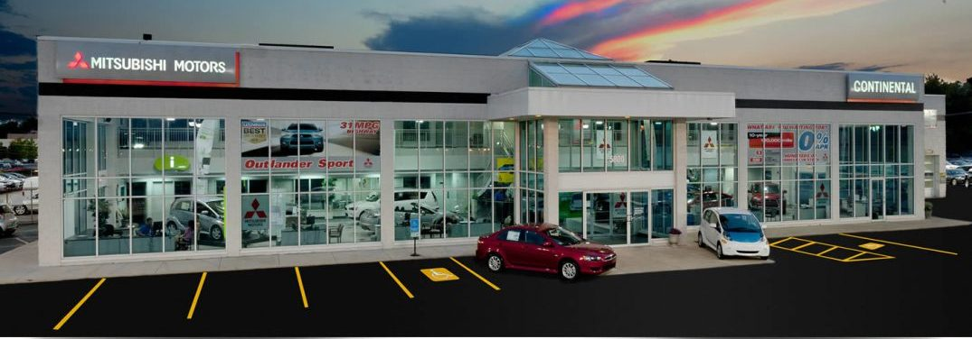 exterior view of continental mitsubishi in countryside, illinois