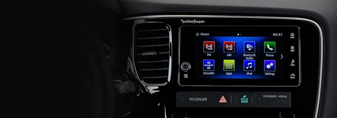 Infotainment System inside the 2018 Mitsubishi Outlander