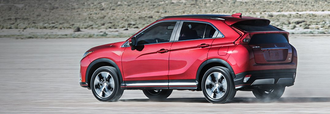 full view of the 2018 Mitsubishi Eclipse Cross in the desert