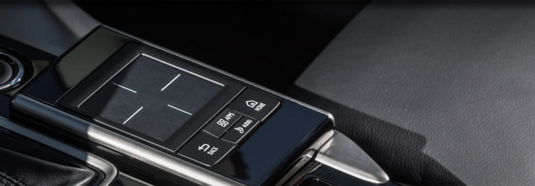 touchpad controller inside the 2018 Mitsubishi Eclipse Cross