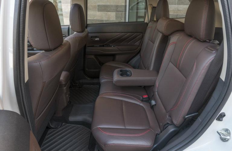 Rear seats in 2018 Mitsubishi Outlander PHEV