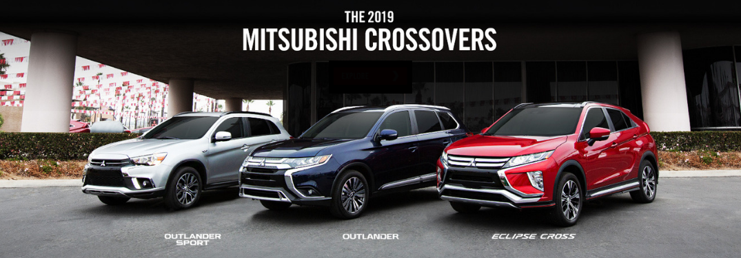 image of three mitsubishi crossover vehicles