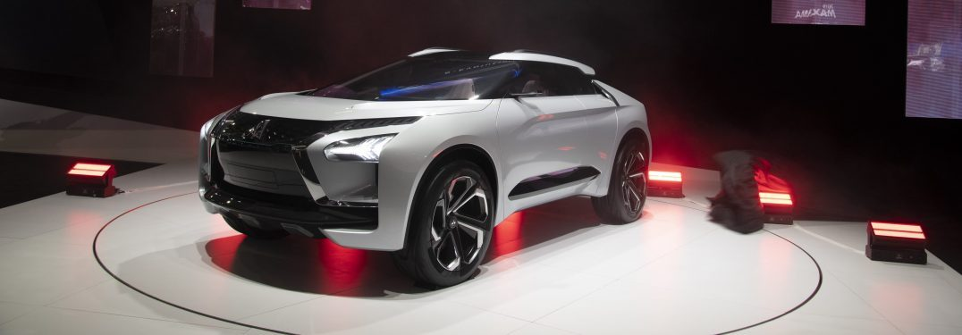 Mitsubishi shows off its E-Evolution Concept Model at the Los Angeles Auto Show