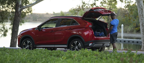 2019 Mitsubishi Eclipse Cross with its hatch open