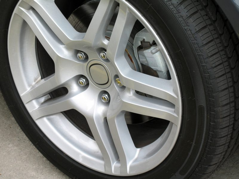 close up of an alloy wheel