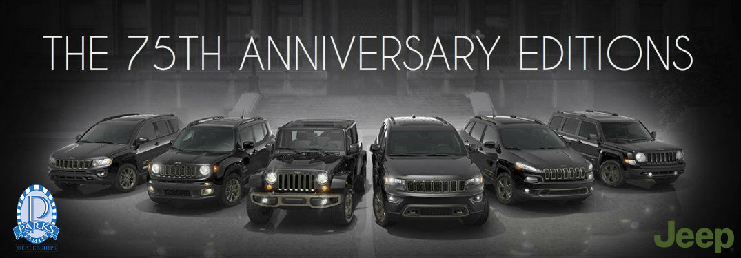 75th anniversary edition Jeeps Parks Motors