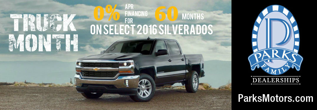 June is Truck Month at Parks Chevrolet!
