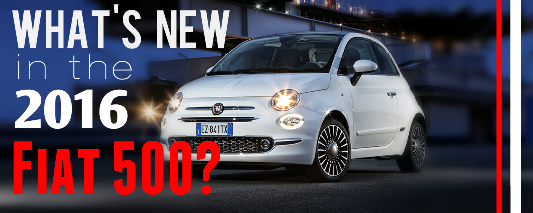 2016 Fiat 500 new features