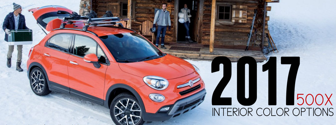 2017 Fiat 500X Interior Colors