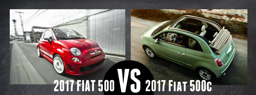 2017 Fiat 500 vs 2017 Fiat 500C Differences
