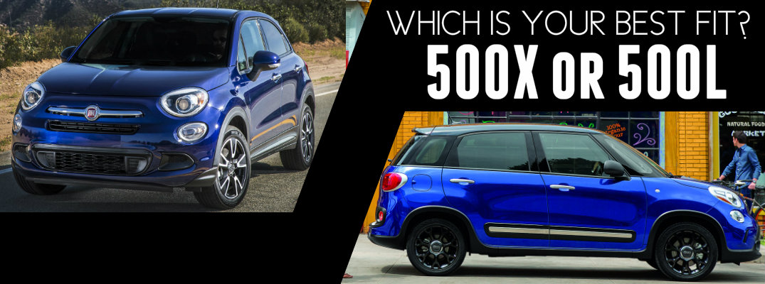 Fiat 500X vs 500L engine specs and cargo space