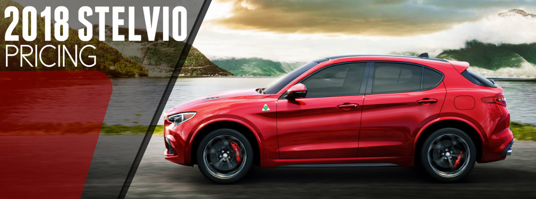 2018 Alfa Romeo Stelvio SUV Pricing