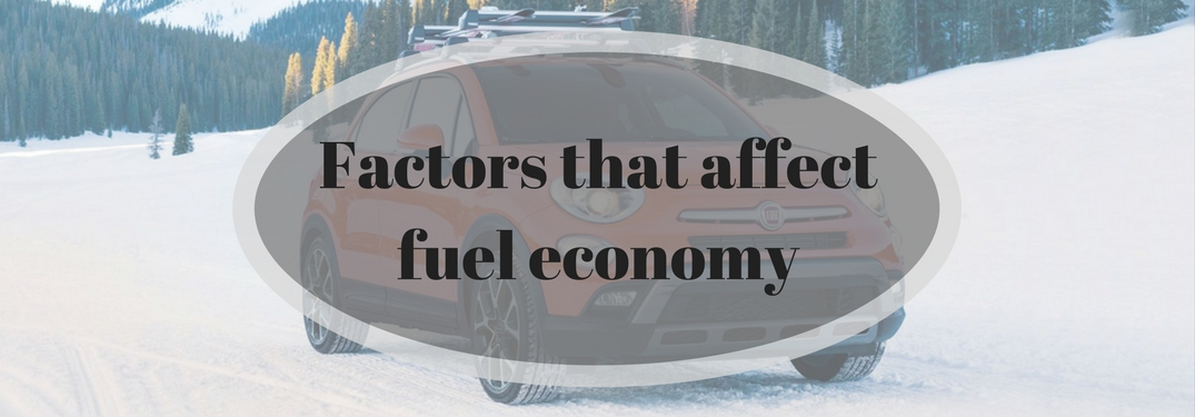 Factors that affect fuel economy