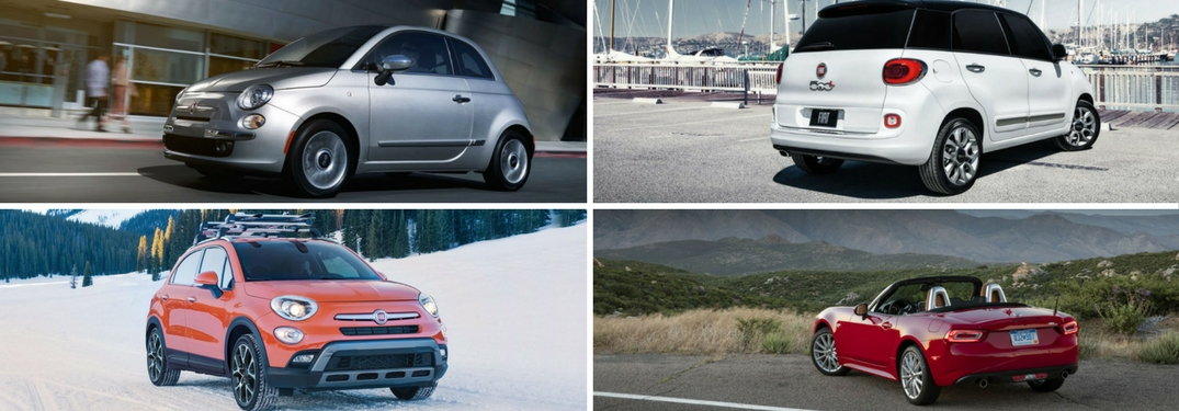 collage of fiat models