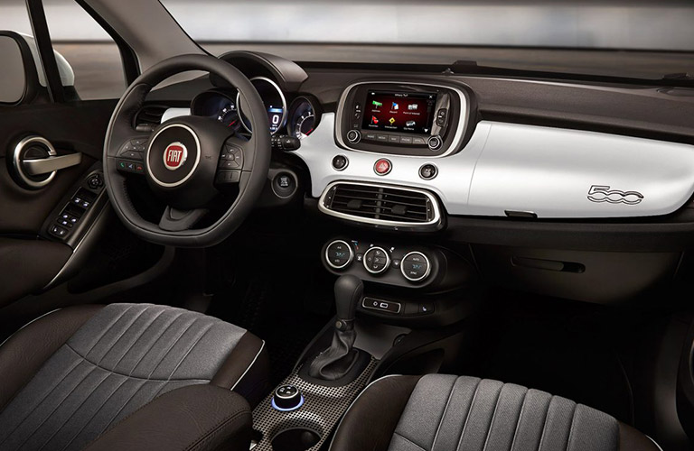 2018 fiat 500x interior features. Black Bedroom Furniture Sets. Home Design Ideas