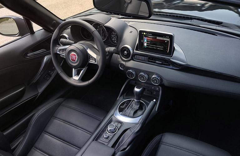 2018 Fiat 124 Spider dashboard design