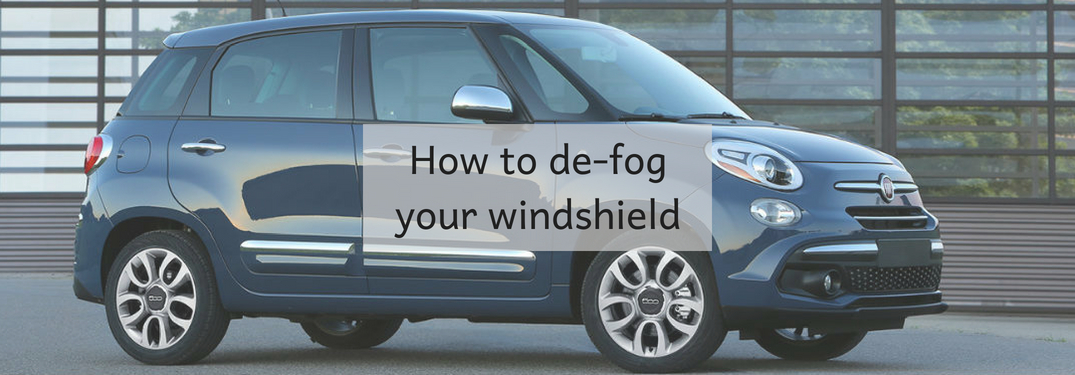 Fiat 500L parked, how to de-fog your windshield