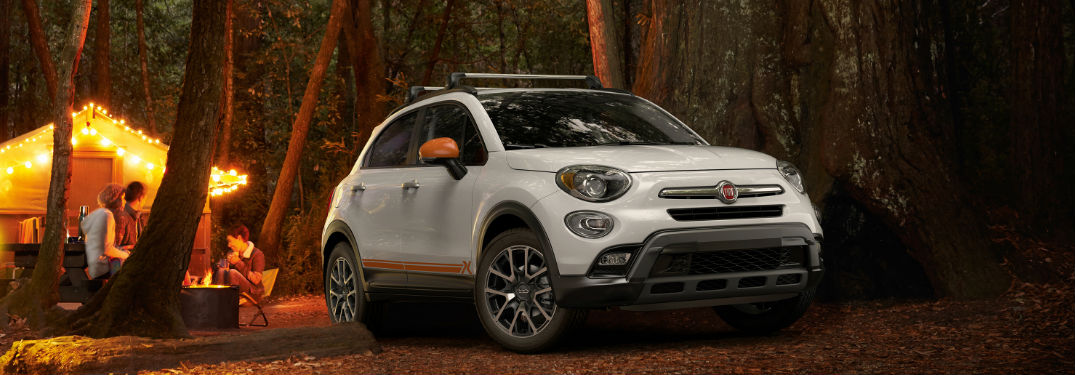 2018 Fiat 500X Adventurer Edition parked at a campsite
