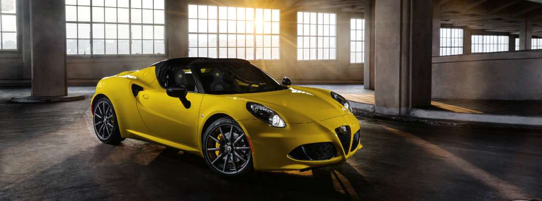 What are the Available Color Options for the 2019 Alfa Romeo 4C Spider?