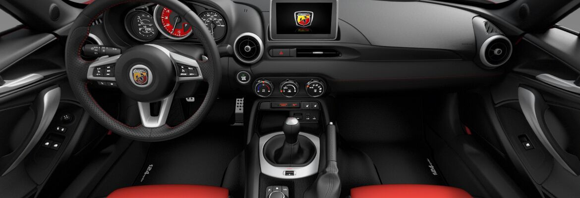 2019 Fiat 124 Spider Abarth Nero Ross Black Red Leather
