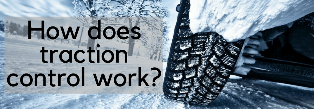 How does traction control work? snowy tire on road