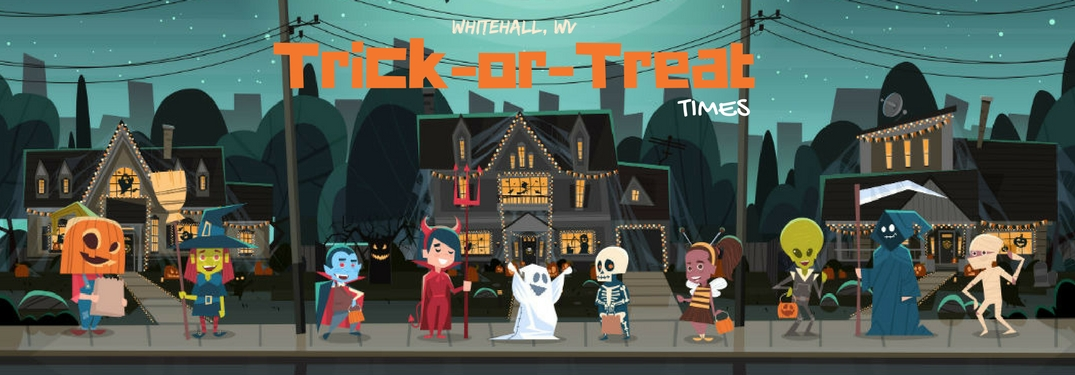 What are the 2017 Whitehall, WV area Trick-or-Treating Times?