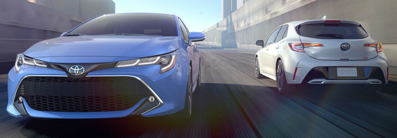 2019 Toyota Corolla Hatchback front fascia 2019 Toyota Corolla Hatchback exterior back fascia