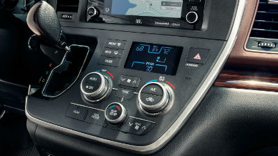 2018 Toyota  Sienna interior close up of touchscreen controls