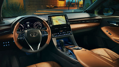 2019 Toyota Avalon interior front cabin steering wheel and dashboard