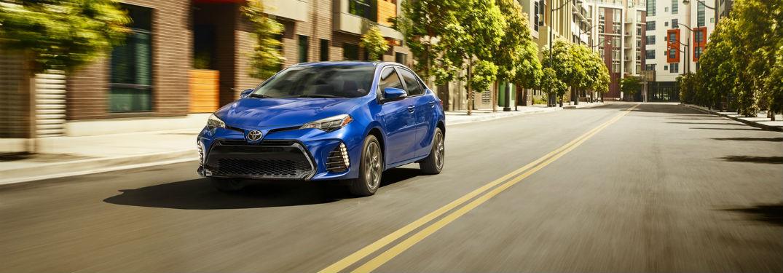 2019 Toyota Corolla interior spacing and cargo capacity