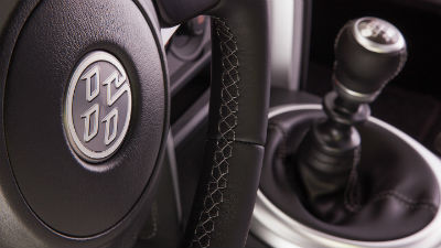 2019 Toyota 86 GT interior close up of steering wheel