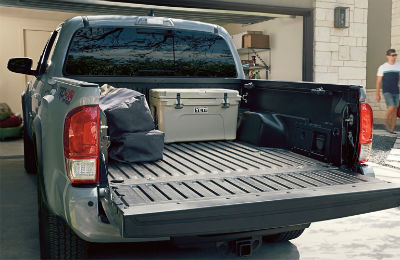 2019 Toyota Tacoma exterior back truck bed with liftgate open