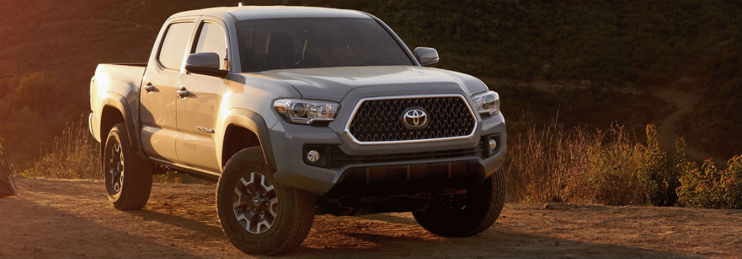 2019 Toyota Tacoma exterior front fascia and passenger side with light on side