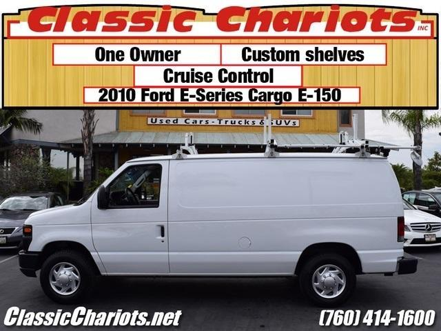 sold used commercial vehicles near me 2010 ford e 150 cargo van with one owner cutstom. Black Bedroom Furniture Sets. Home Design Ideas