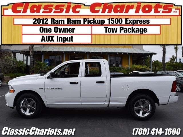 Used Vans For Sale Near Me >> Used Trucks Near Me - 2012 Ram Ram Pickup 1500 Express with One Owner, AUX Input, and Tow ...