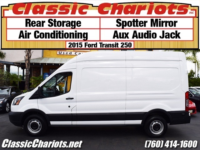 Sold Used Commercial Vehicle Near Me 2015 Ford Transit Cargo 250 With Rear Storage Spotter