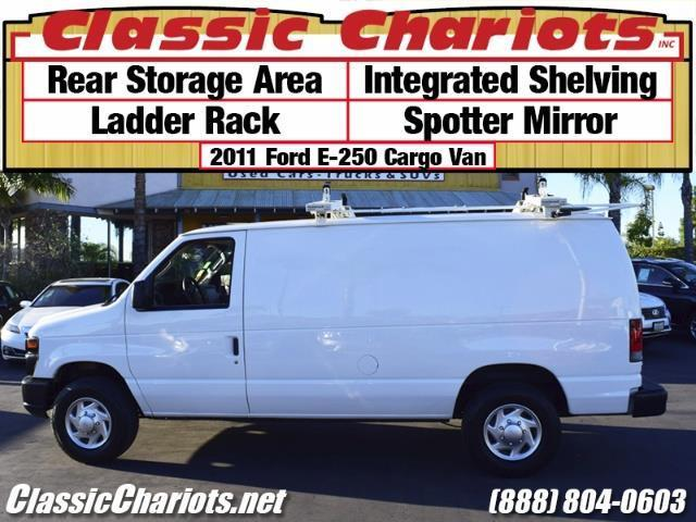 Used Commercial Vehicle Near Me 2011 Ford E 250 Cargo Van With Rear Storage Integrated