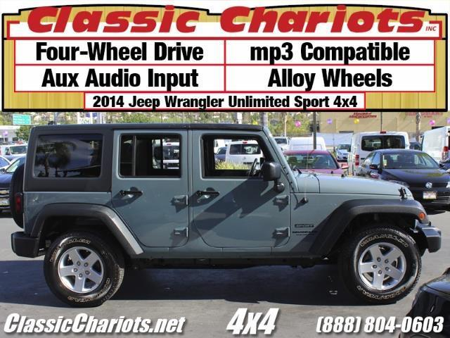 sold used 4x4 near me 2014 jeep wrangler unlimited sport 4x4 with alloy wheels mp3. Black Bedroom Furniture Sets. Home Design Ideas