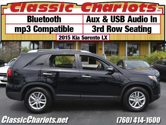 sold used car near me 2015 kia sorento lx with bluetooth usb input and 3rd row seating. Black Bedroom Furniture Sets. Home Design Ideas