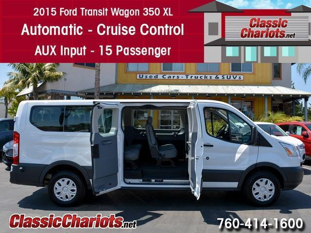 Used Passenger Van Near Me - 2015 Ford Transit 350 XLT 15 Passenger with Automatic, Cruise ...