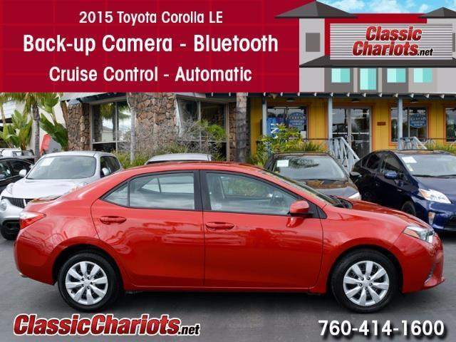 Ford Dealership San Diego >> Used Car Near Me - 2015 Toyota Corolla LE with Bluetooth, Back-up Camera, and Cruise Control for ...