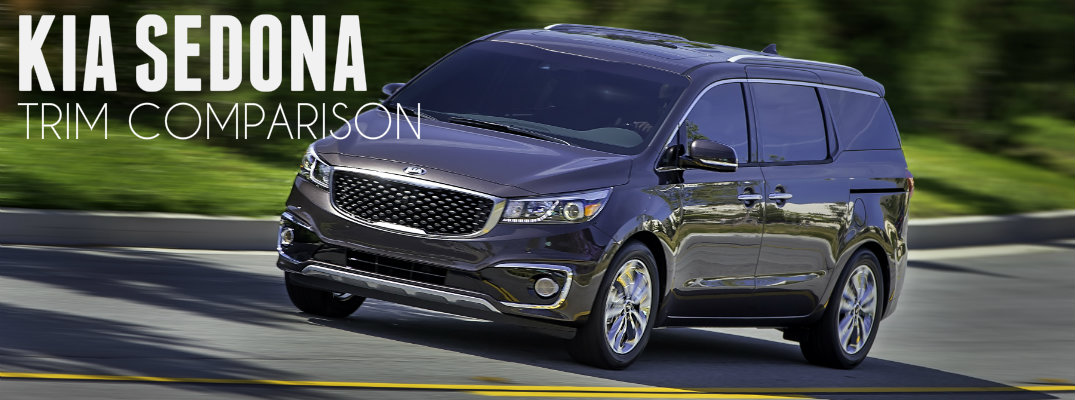 2016 Kia Sedona Trim Comparison