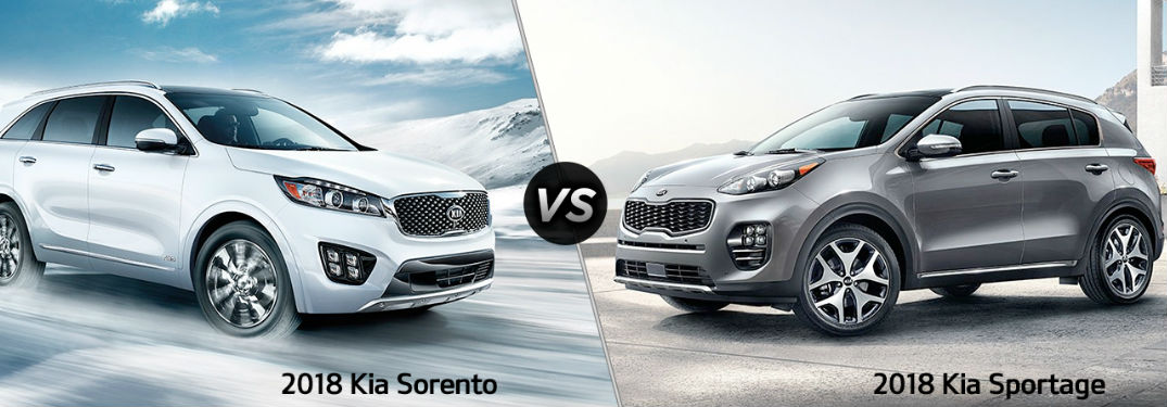 What's the difference between the Kia Sportage and Kia Sorento?