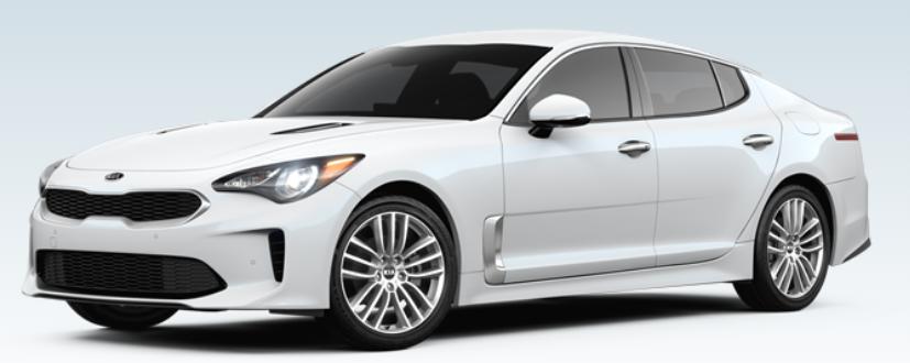 white 2018 Kia Stinger 2.0 trim